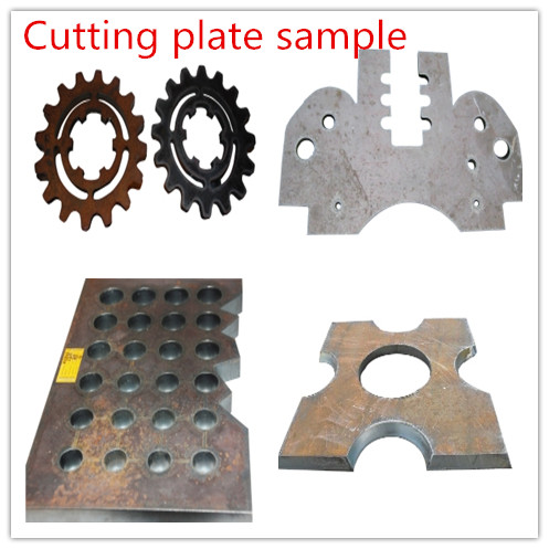 gantry cnc plasma flame cutting machine cutting samples show
