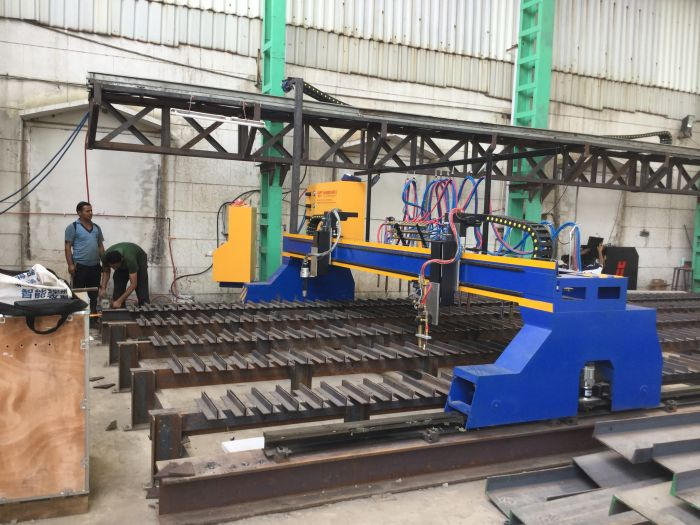 5m heavy duty gantry cnc plasma flame cutting machine